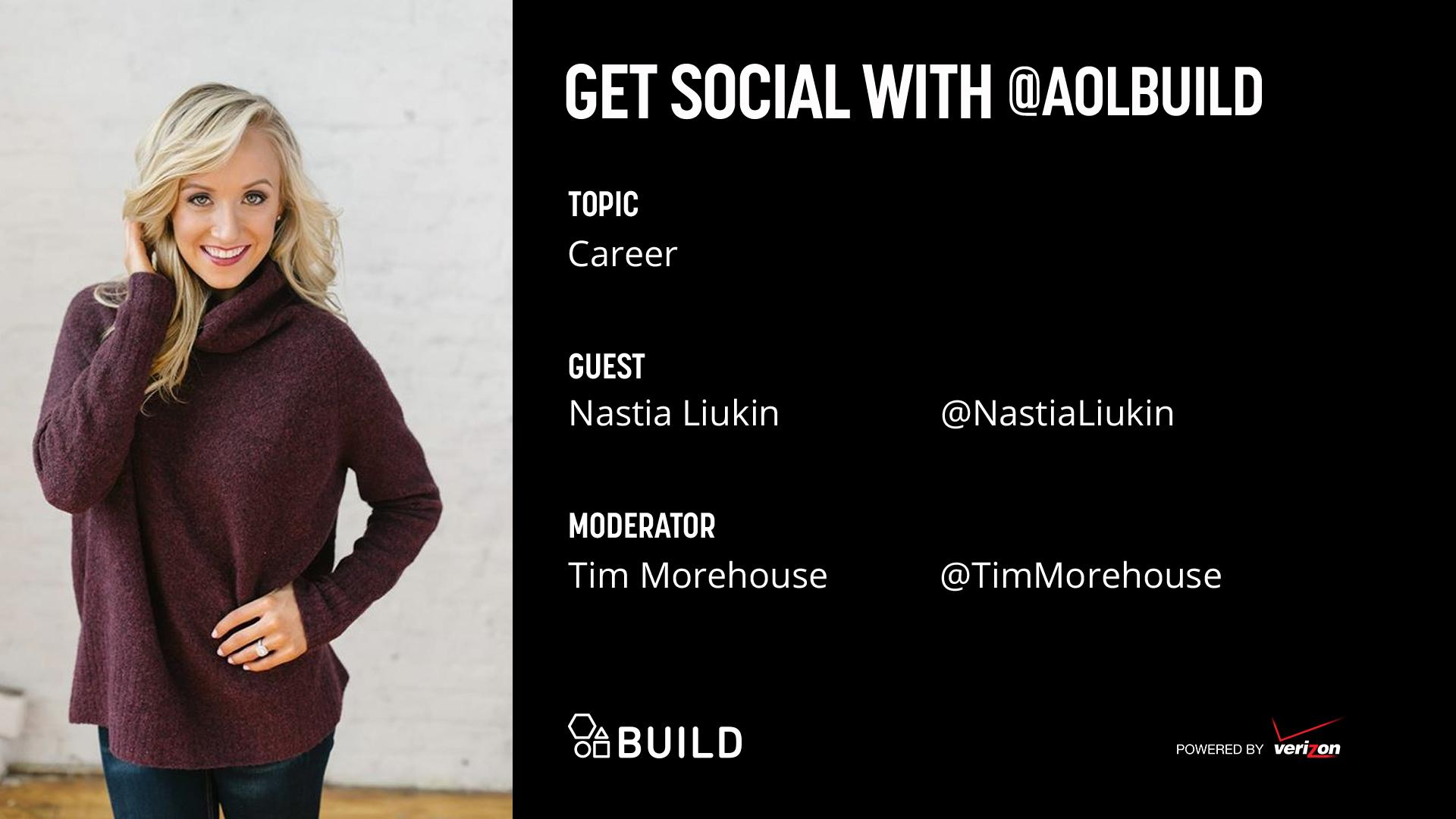 Nastia Luikin LIVE on AOL BUILD
