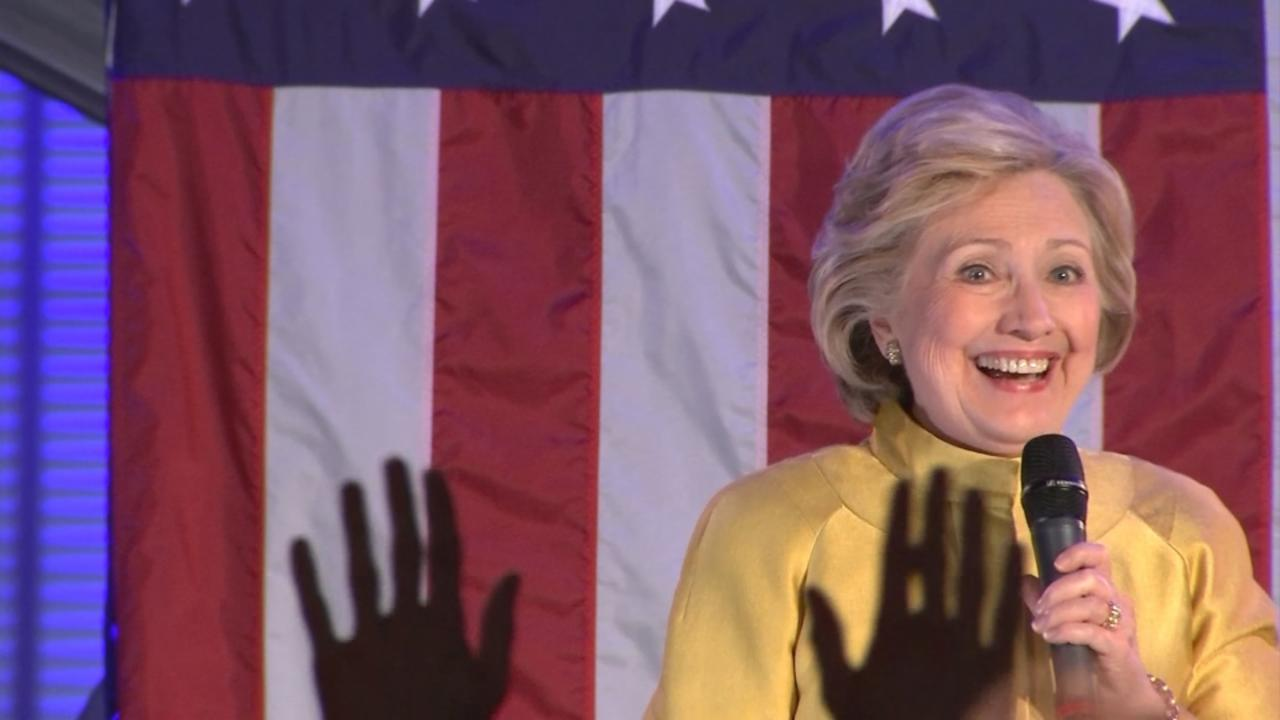 Clinton campaigns in New York ahead of state primary