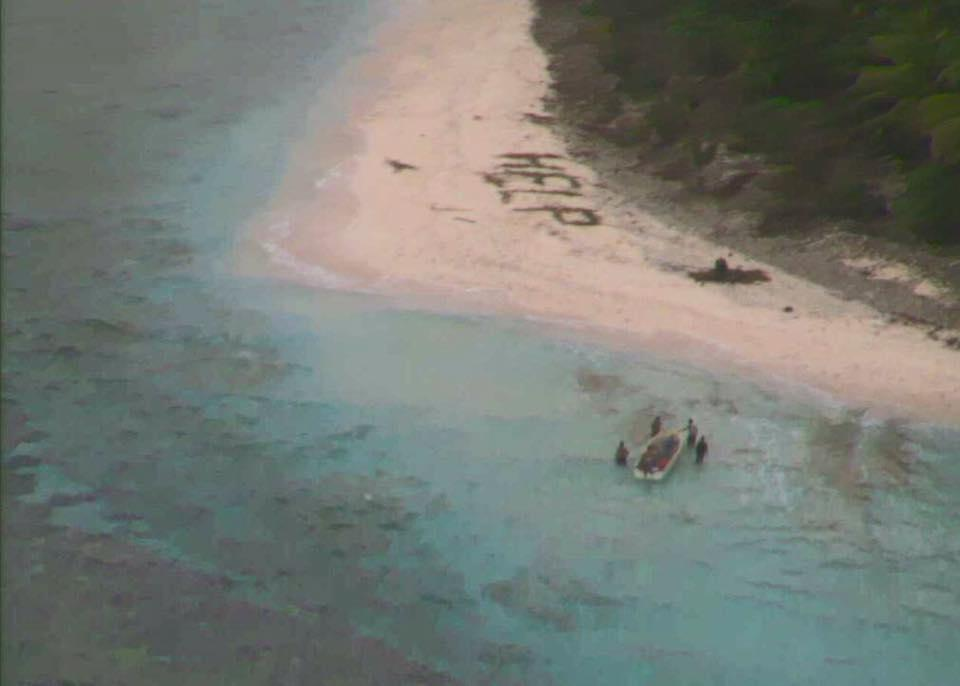 Men Rescued From Deserted Island After Writing 'HELP' on Beach