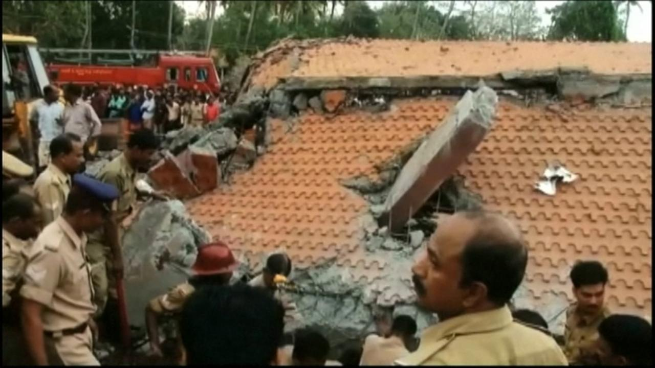 Nearly 80 dead in India temple fire
