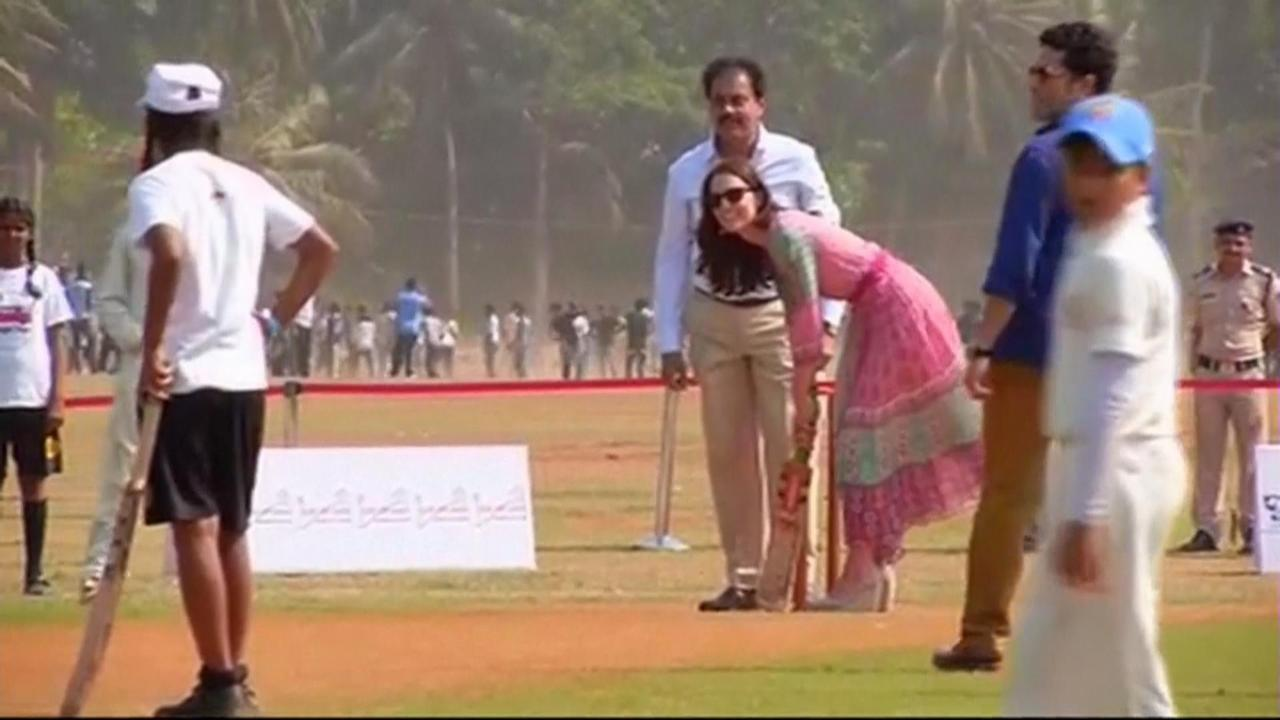 The Duchess of Cambridge Tries Her Hand at Cricket