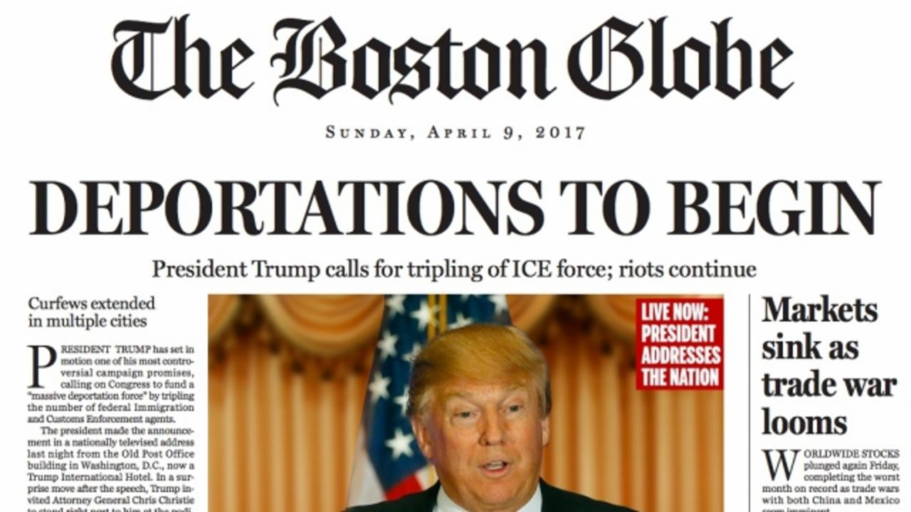 Boston Globe Envisions a Donald Trump Presidency With Fake Front Page
