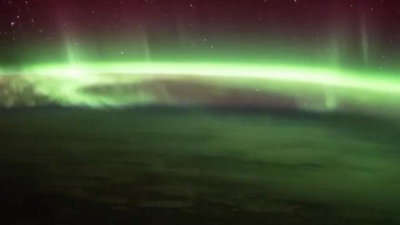 Astronaut Tim Peake Shares Stunning Video Of Aurora Australis From ISS