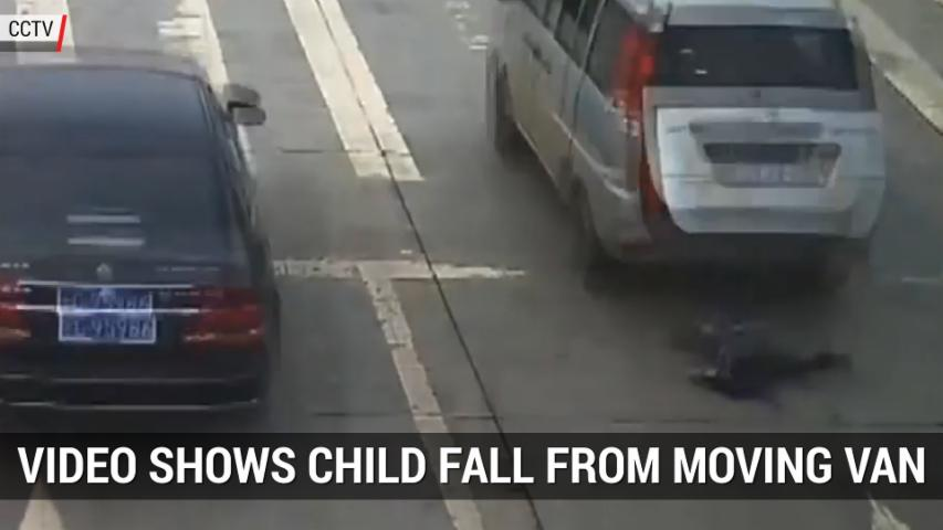 Video Shows Another Child Fall Out Of A Moving Van In China | Autoblog Minute