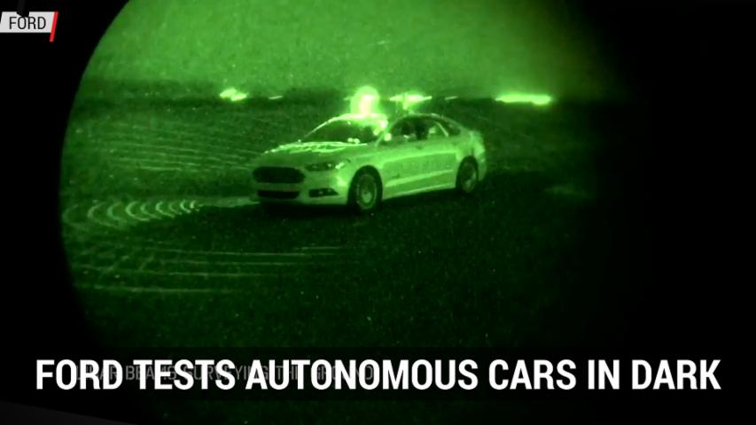 Ford Tests Autonomous Cars In Dark | Autoblog Minute