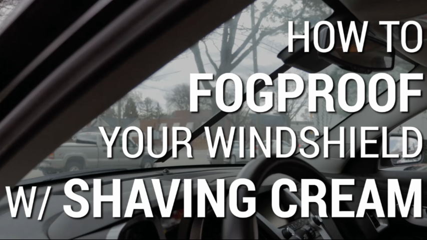 How To Fogproof Your Windshield With Shaving Cream | Car Hacks