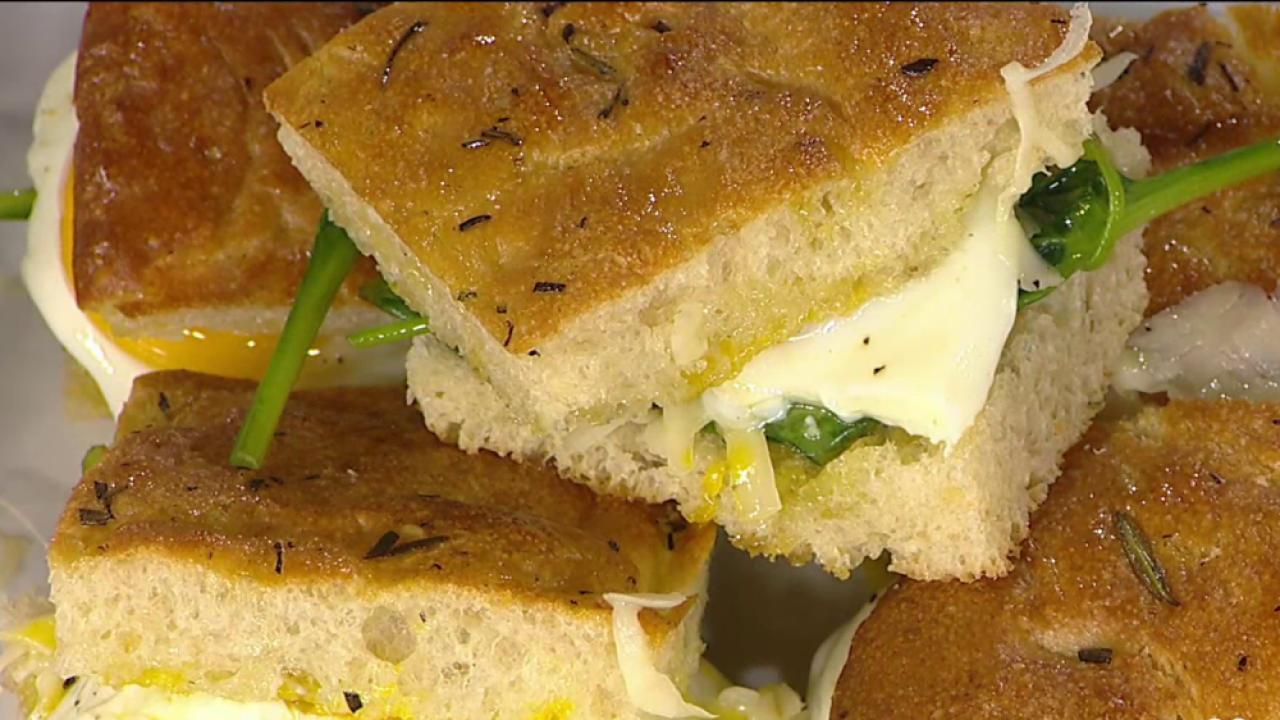 It's National Grilled Cheese Day! Hoda samples a sandwich with a twist