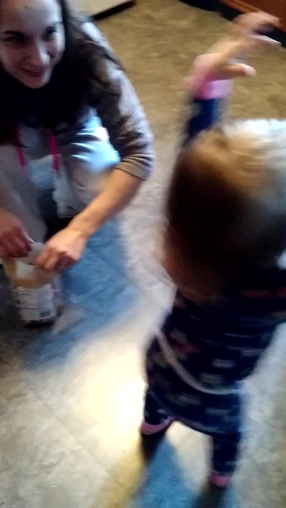 Toddler discovers the joy of chocolate