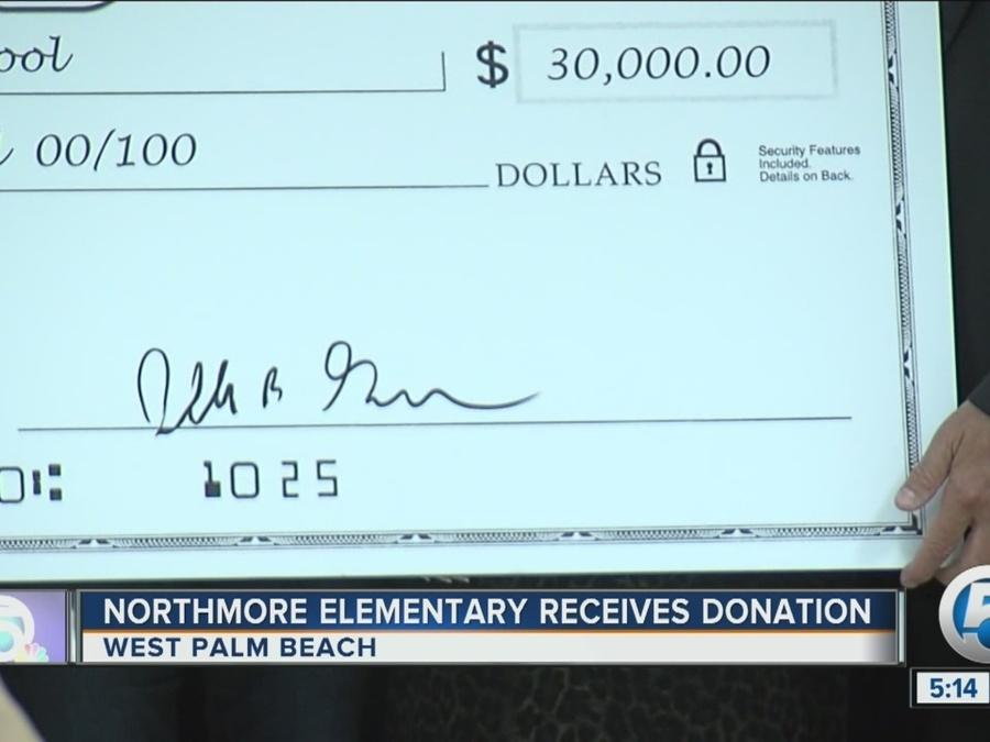 Northmore Elementary School receives $30,000 donation in West Palm Beach