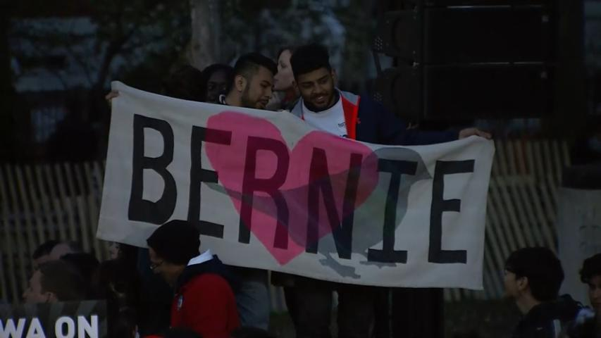 Sanders and stars rally supporters in NYC