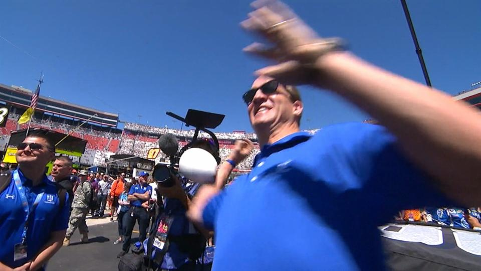 Peyton Manning had a pretty embarrassing fail at Bristol Motor Speedway