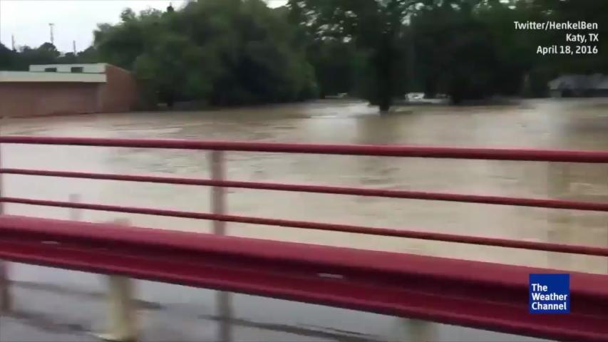 Floodwaters Rise in Katy, Texas