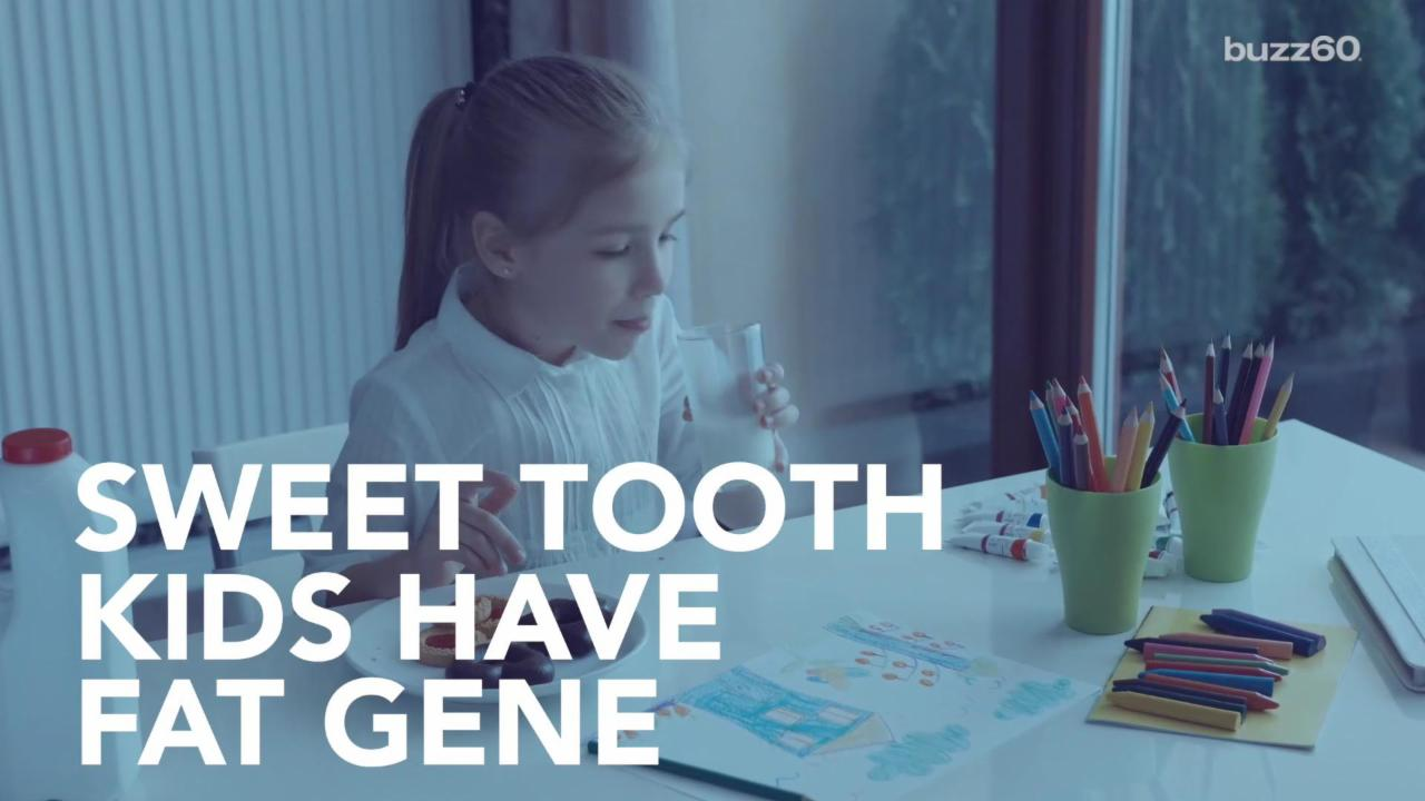 Kids with Sweet Tooth Have Fat Gene