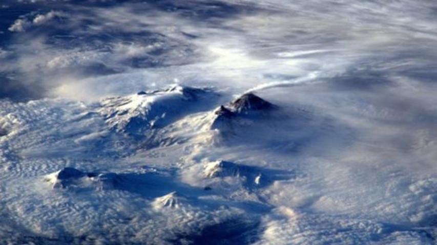 Astronaut Captures Mesmerizing Image Of Volcano From Space