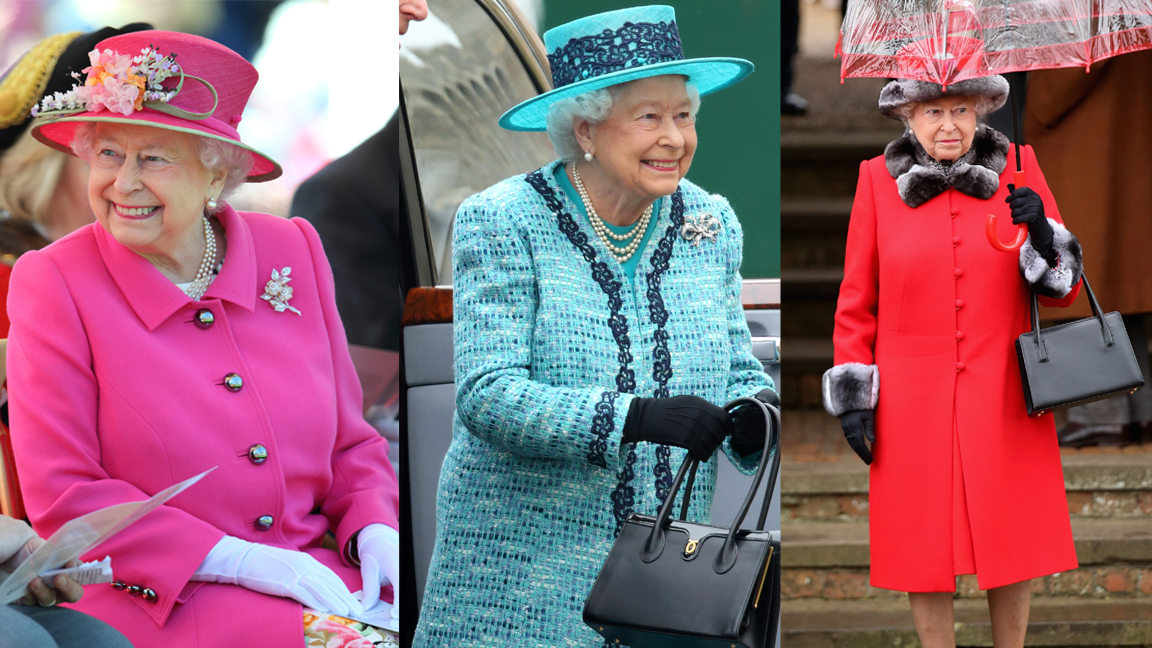 Queen Elizabeth's Regal Rainbow Style