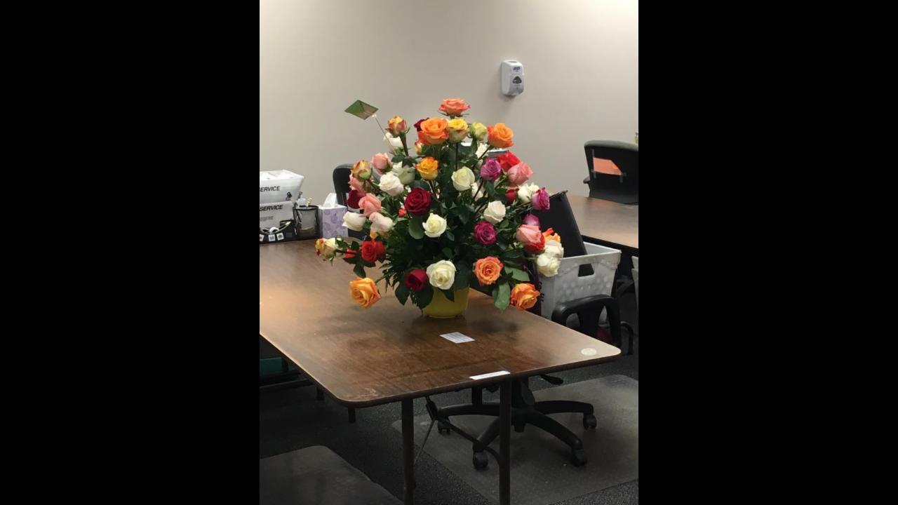 Woman receives flowers from deceased husband every year