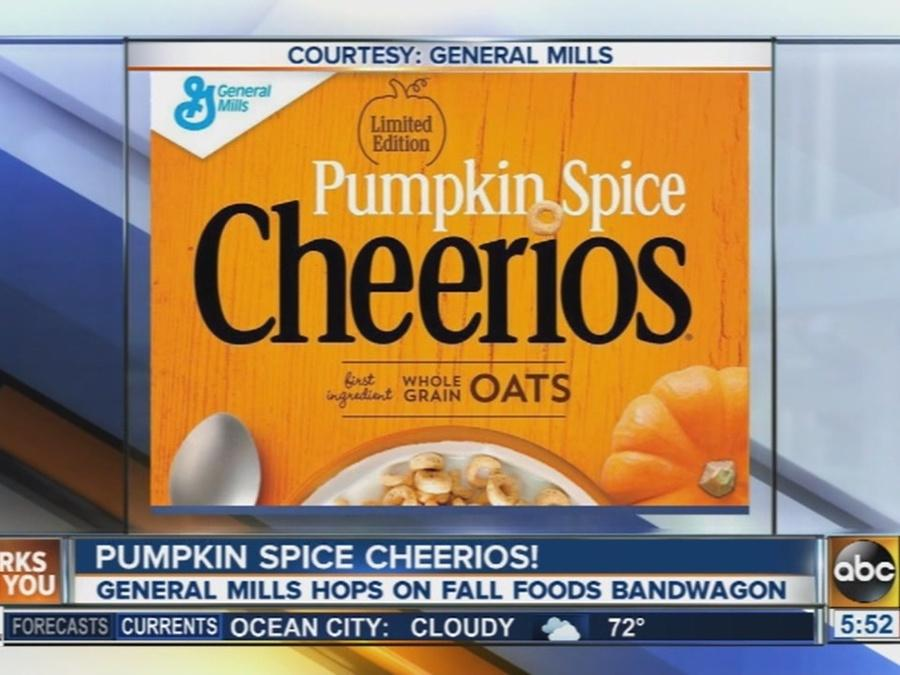 Pumpkin spice Cheerios on the way this fall