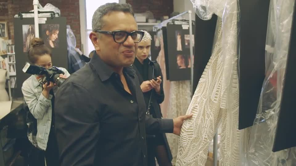 Behind the Scenes with Naeem Khan at Spring 2017 Bridal Week