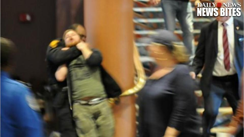 Anti-Trump Protester Put In A Chokehold By Cop At The Connecticut Rally