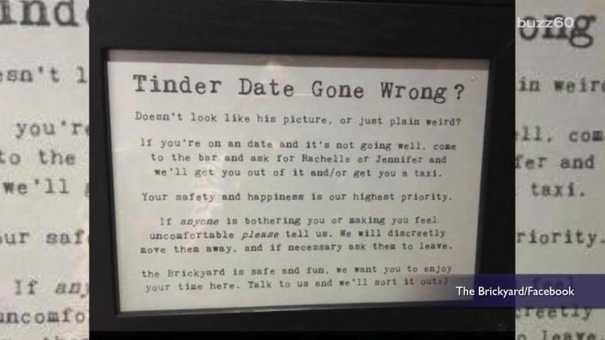 Bar Offers to Help Women Escape Bad Tinder Dates