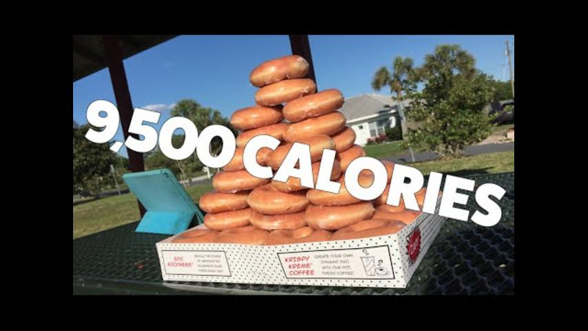 Competitive Eaters Scoffs 50 Krispy Kreme Donuts