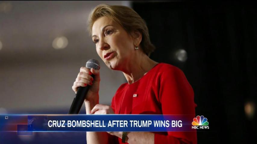 Cruz Names Fiorina as Running Mate if He Gets GOP Nomination