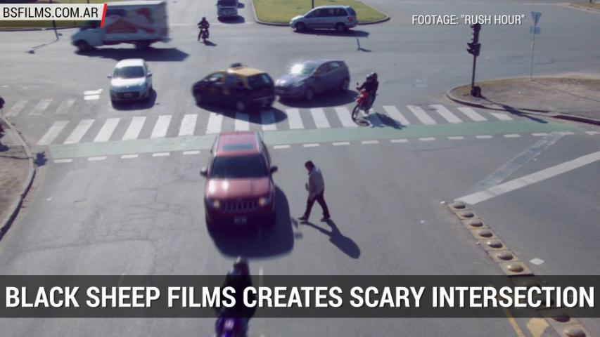 "Short Film ""Rush Hour"" Creates Surreal Intersection 
