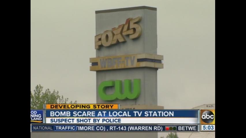Bomb scare at Fox 45 TV station