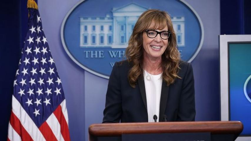 C.J. Cregg From 'The West Wing' Fills in at White House Press Briefing