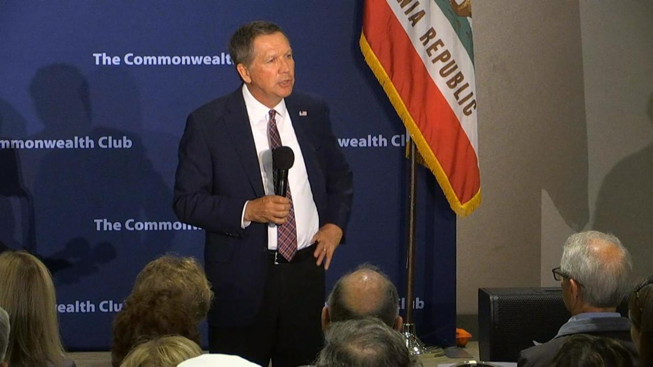 Kasich and Questioner Get into Exchange Over 'Being Born Gay'