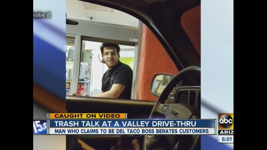Trash talk at Valley drive-thru