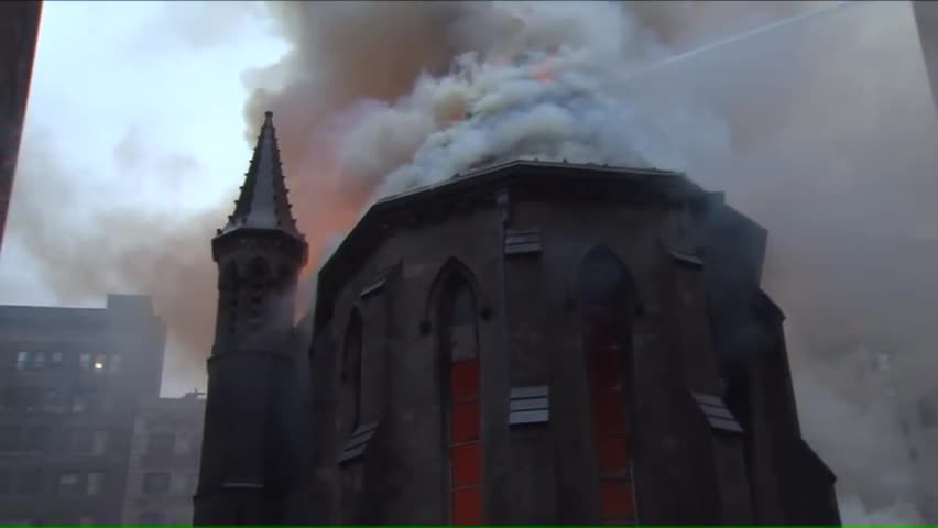 'Nightmare' Fire Destroys Historic Manhattan Church