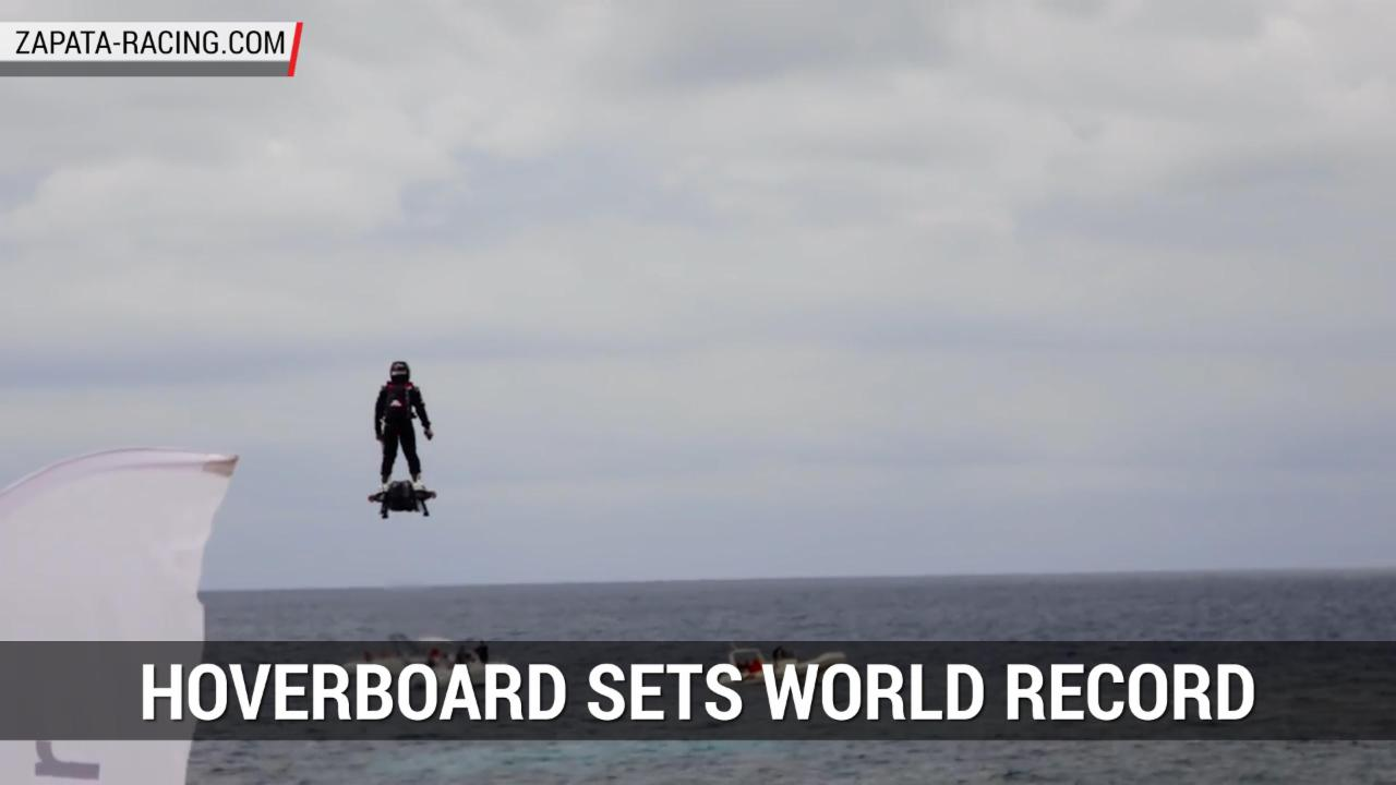 Jet Powered Hoverboard Sets World Record | Autoblog Minute