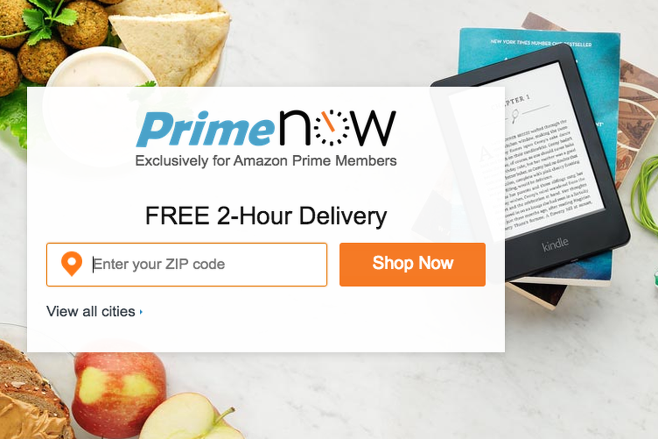 Amazon's new Prime Now site offers same-day deliveries on web as well as mobile