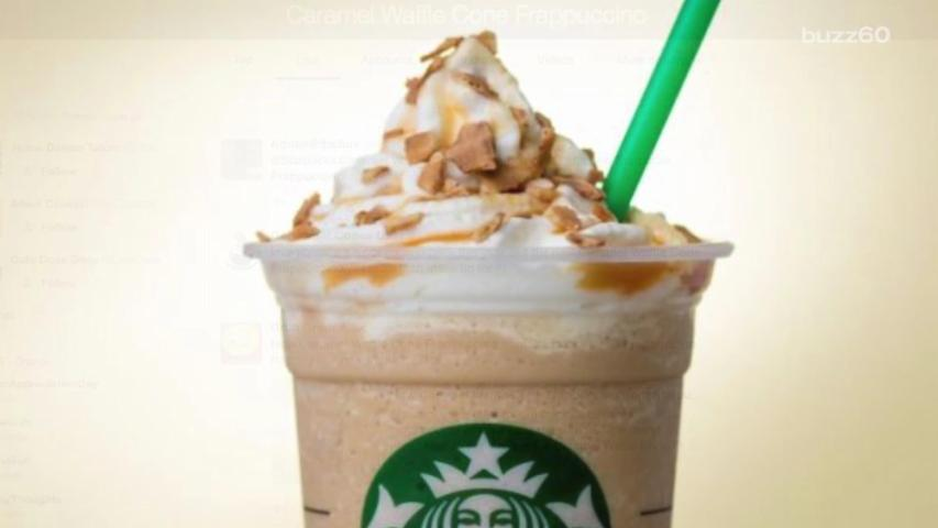 Starbucks Introduces New Caramel Waffle Cone Frappuccino