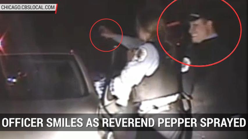 Officer Smiles As Chicago PD Pepper Spray Reverend | Autoblog Minute