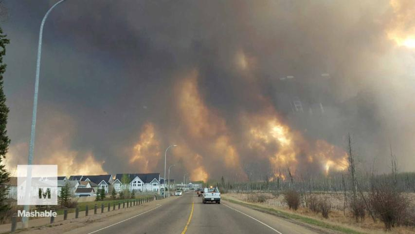 Massive Wildfire Prompts Evacuation of Entire Canadian City