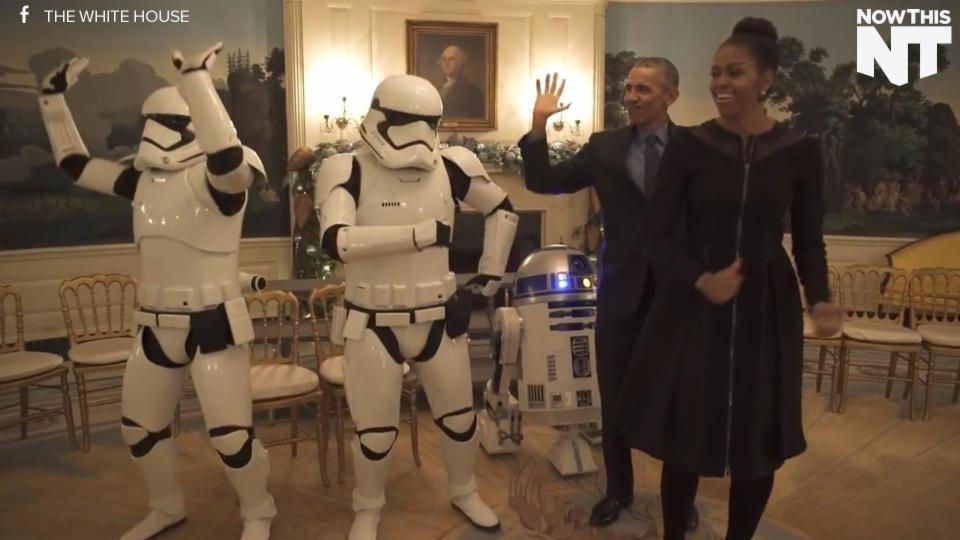 Watch The Obamas Dance With R2D2