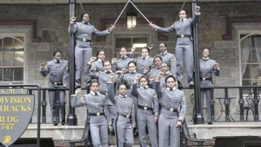 West Point 'investigating' photo of 16 black female cadets raising fists