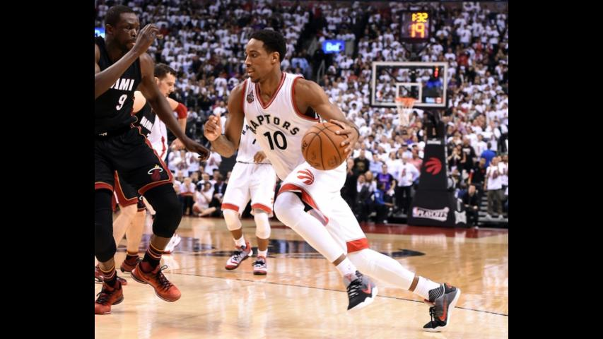 Raptors top Heat in OT despite guards' woes