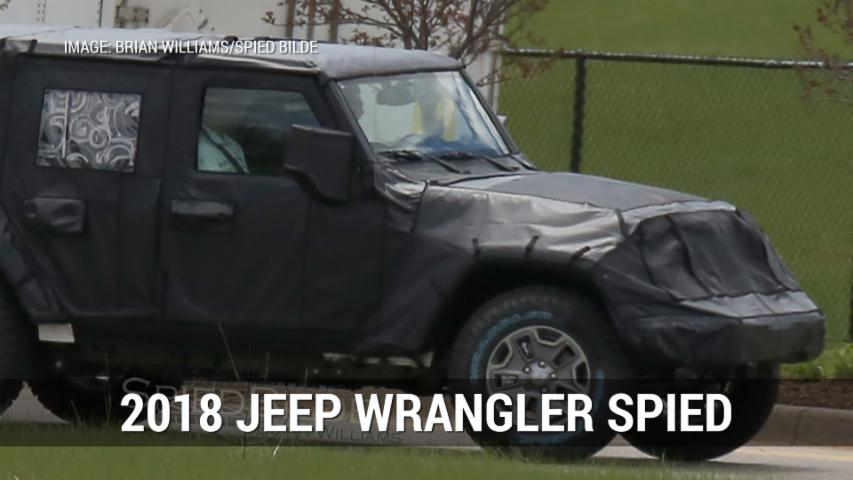 2018 Jeep Wrangler Spied Looking More Aerodynamic | Autoblog Minute