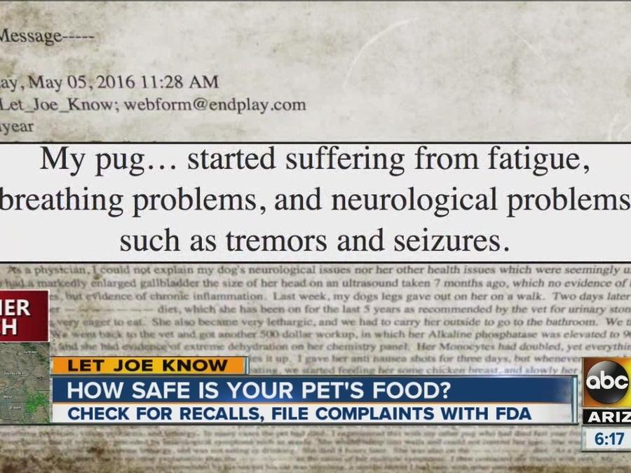 How safe is your pet food?