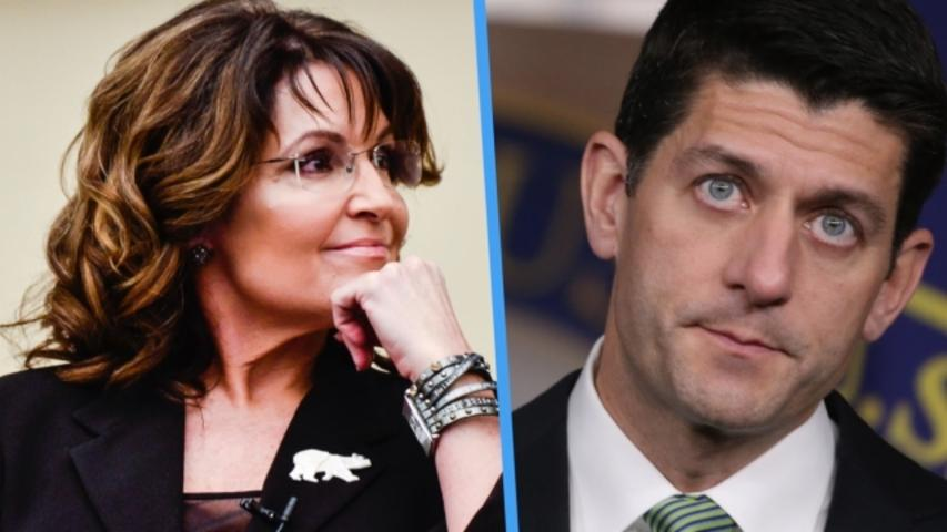 Sarah Palin Says Paul Ryan's Failure to Endorse Donald Trump Is Unwise