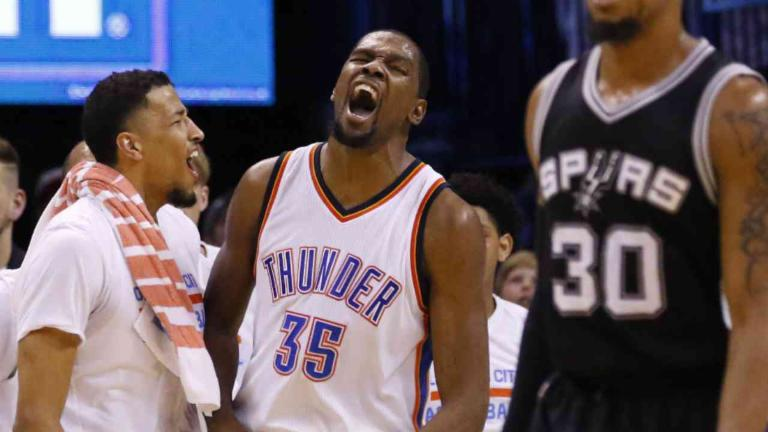 Durant, Thunder Pull Even With Spurs
