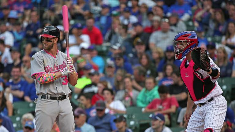 Nationals' Bryce Harper Makes History in Loss to Cubs
