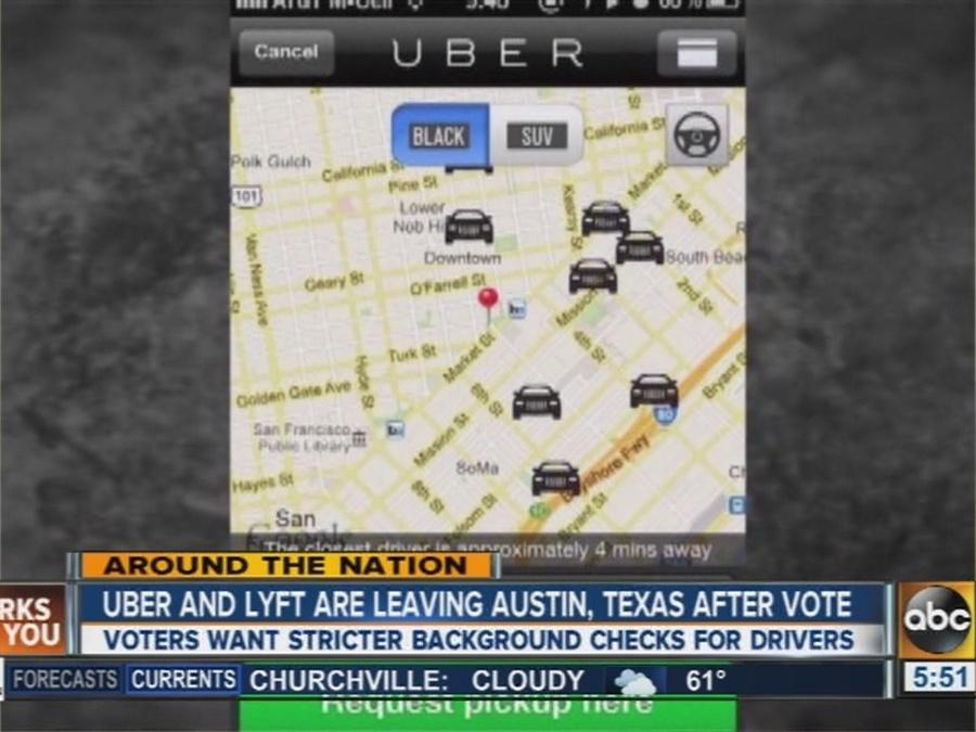 Uber,Lyft leaving Austin over fingerprint vote