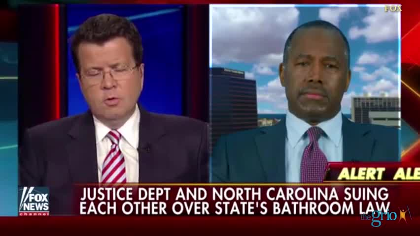"Ben Carson says comparing NC bathroom bill to Jim crow is ""a bunch of crap"""
