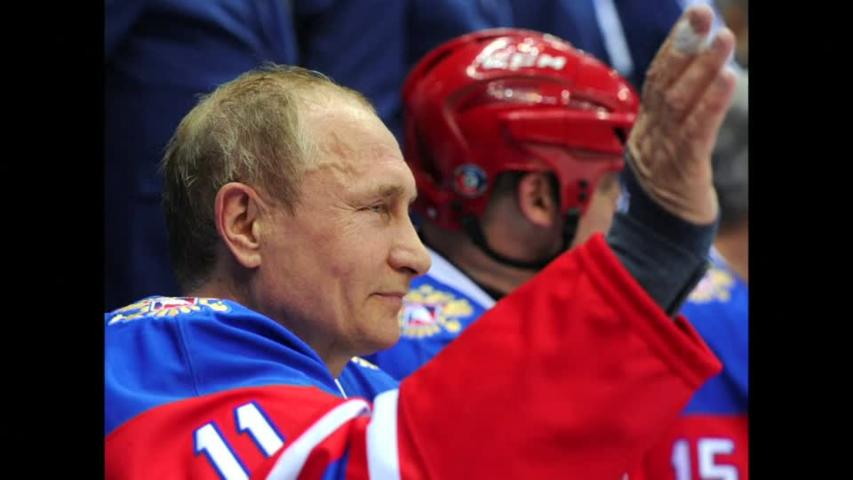 Russia's Putin takes to ice for amateur hockey game