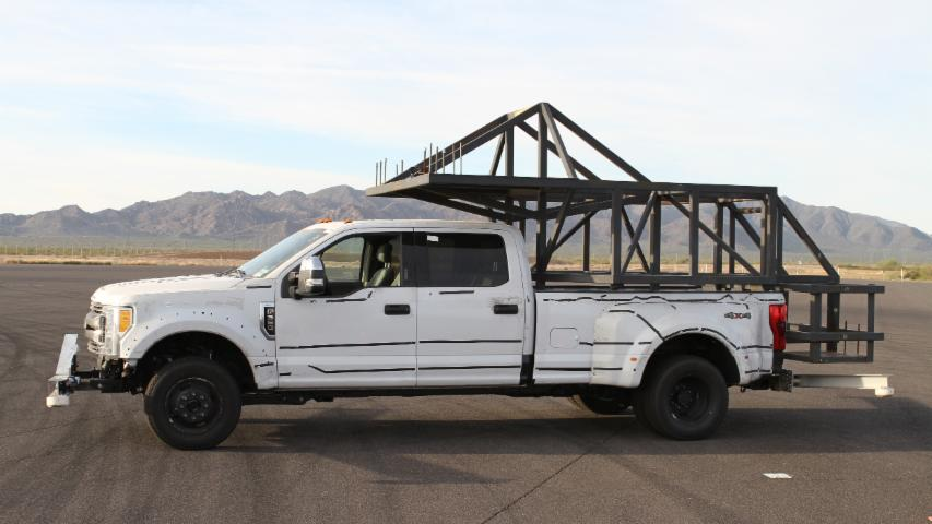 Ford Super Duty Camper Handling Test Rig
