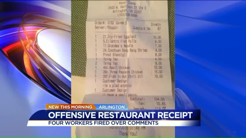 Famed Chef Apologizes for Profane Note Server Left on Receipt